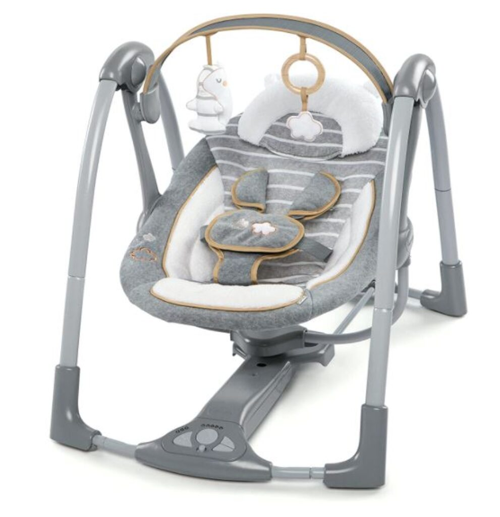Super light and compact baby swing