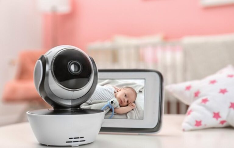 How far should a baby monitor be from the baby?